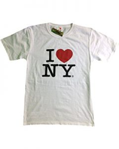 Classic iconic I love New York NY white t-shirt