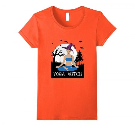 Only cool t-shirts Halloween Yoga Witch Wiccan Bruja